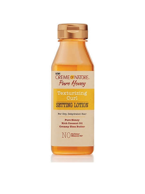 Creme of Nature Pure Honey Setting Lotion, Texturizing Curl, for Dry, Dehydrated