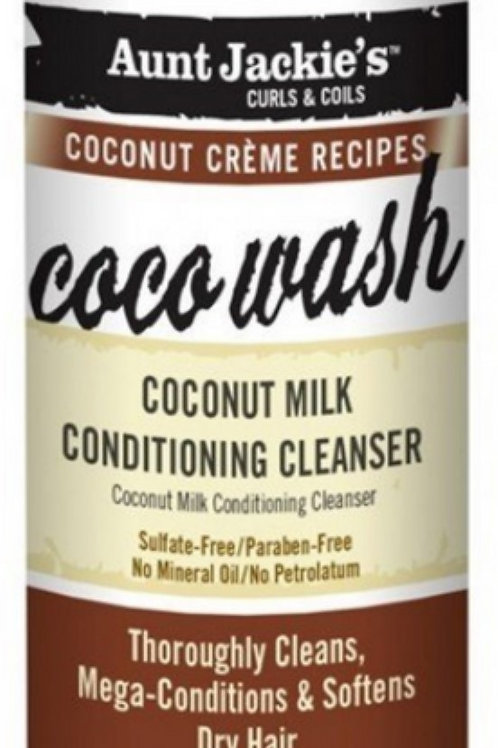 Aunt Jackie's Coco Wash Coconut Milk Conditioning Cleanser - 12 oz