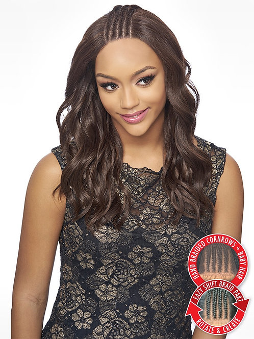 KBW03 KIMA BRAID LACE WIG SIDE BRAID VOLUME WAVE Shown Color  1B Item Code   KBW