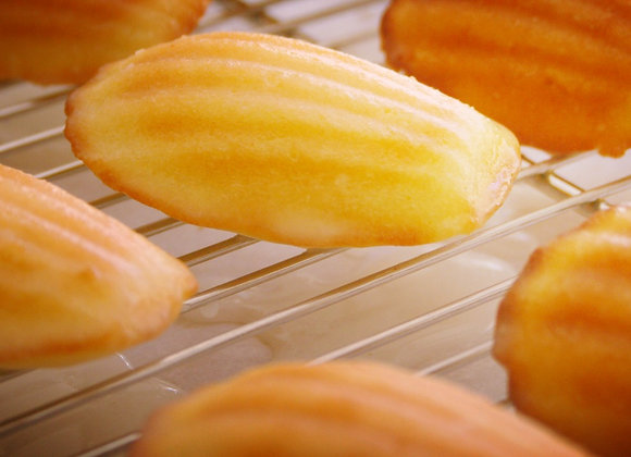 Lemon Madeleine's with lemon glaze