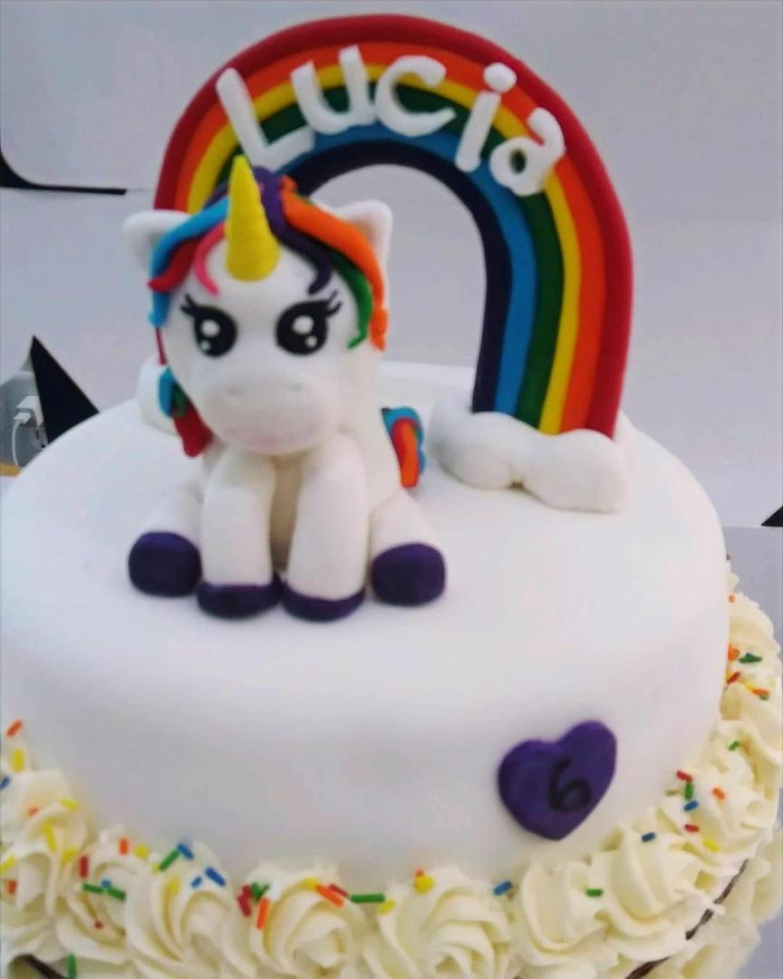 UNICORN & Rainbows- birthday cake