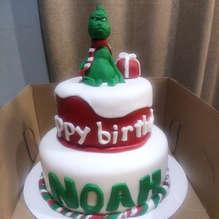GRINCH CAKE- birthday cake