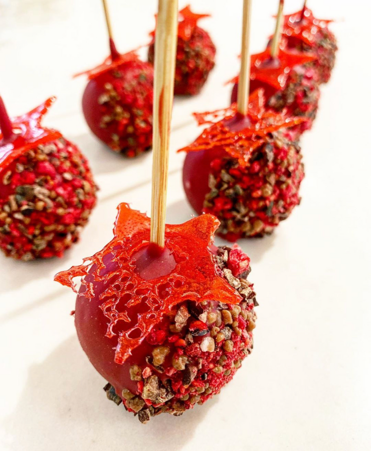Chocolate mousse lolly pops