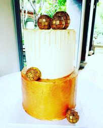 Disco Ball Wedding Cake
