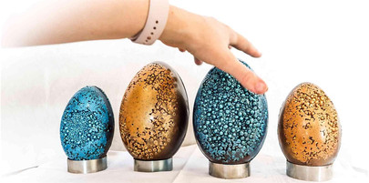 Our Jewelled Easter eggs