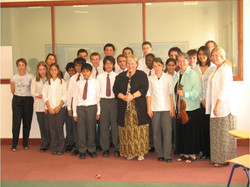 With Academy students in Qatar 2006
