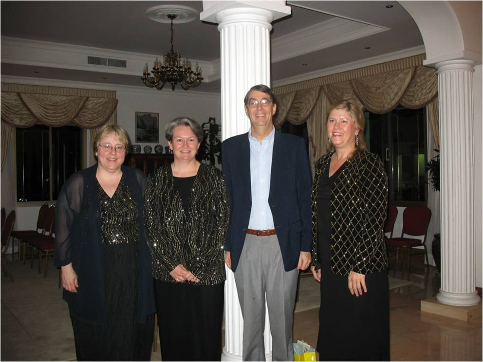 With Ambassador Monroe in Bahrain 2006