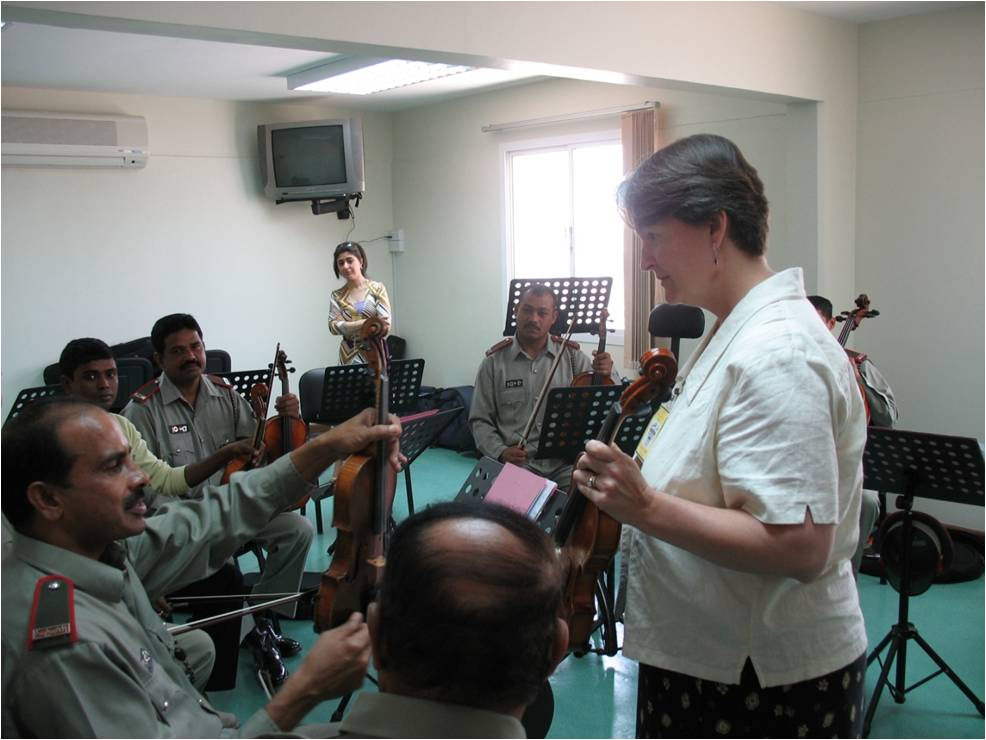 Margaret teaching in Bahrain