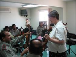 Margaret teaching in Bahrain