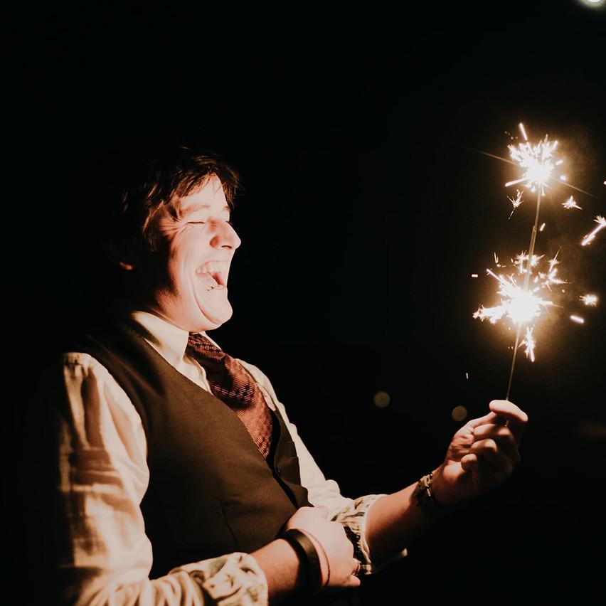 This guy loves a sparkler