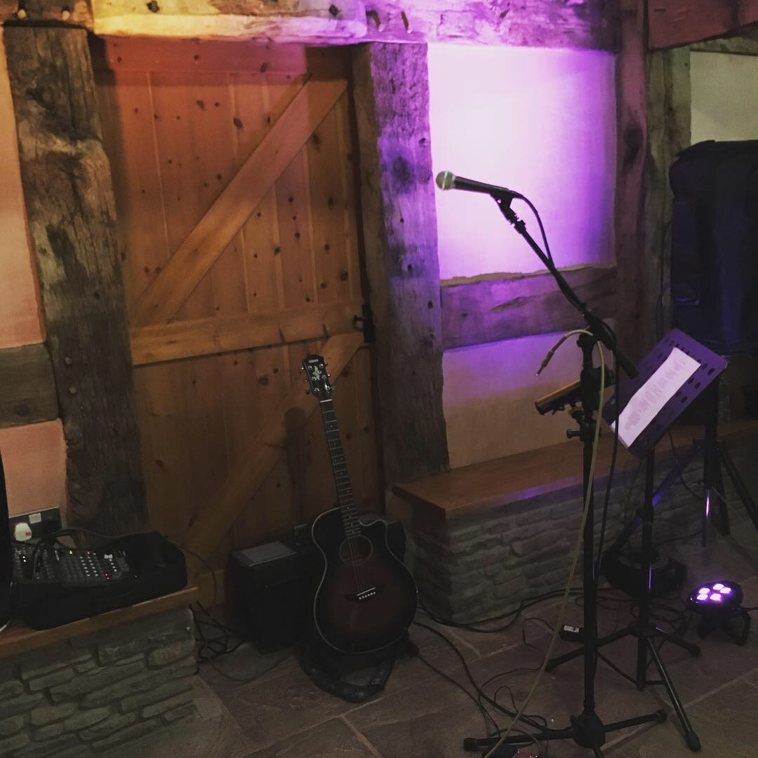 My set up at Lower House farm for an evening wedding party.