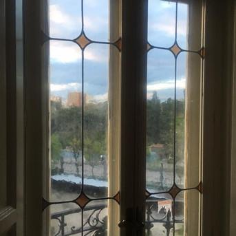 vidrio antiguo soplado hecho a mano. En