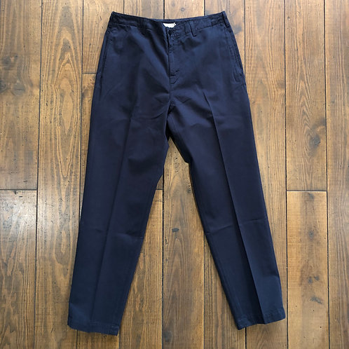 Flat Front Tapered Twill Trouser
