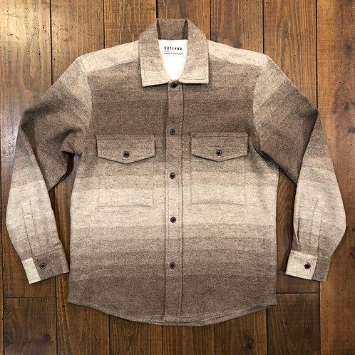 Army wool overshirt
