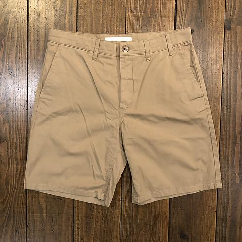 Aros light twill khaki shorts