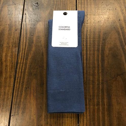 Organic cotton blue socks