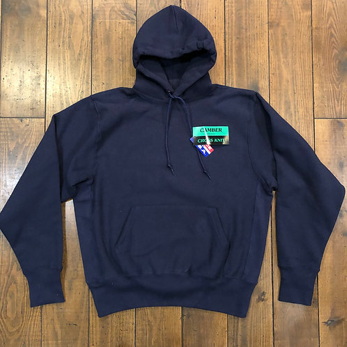 Camber Cross knit navy hoodie
