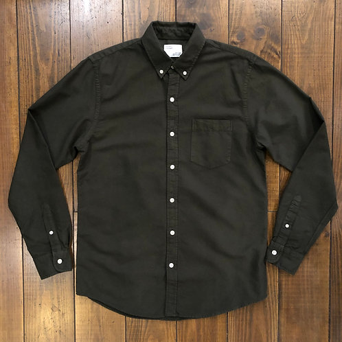 Organic  oxford Hunter green shirt