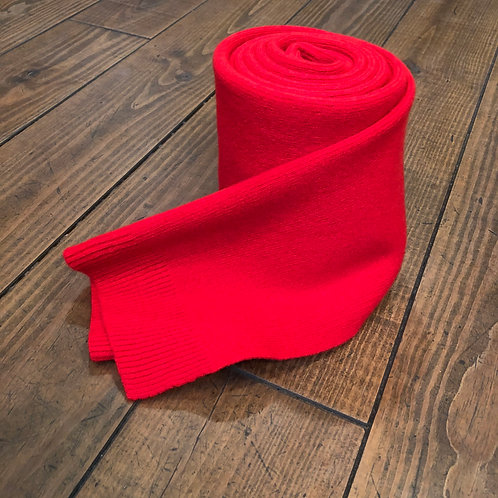 Merino wool red scarf
