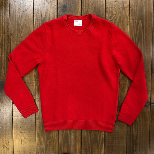 Merino wool Scarlet Red Crew
