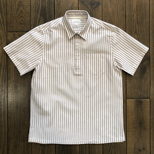 Pop-Over Oxford Navy stripes Shirt