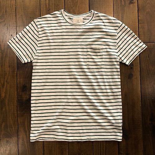 Guerreiro green stripes t-shirt