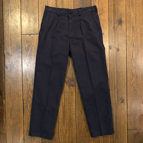 Single Pleat Navy Trousers