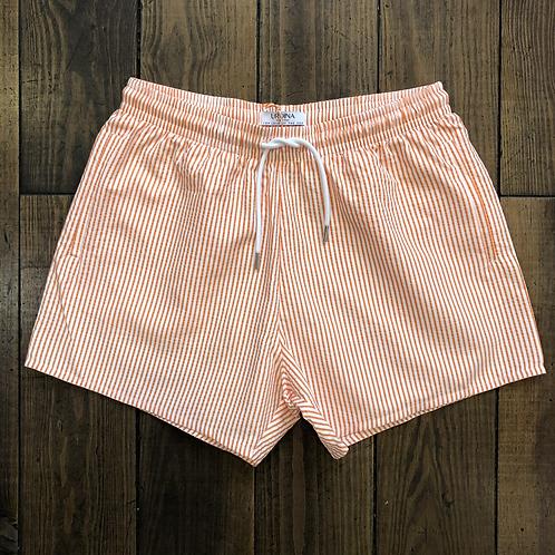 Urdina Orange Stripes Swimshorts