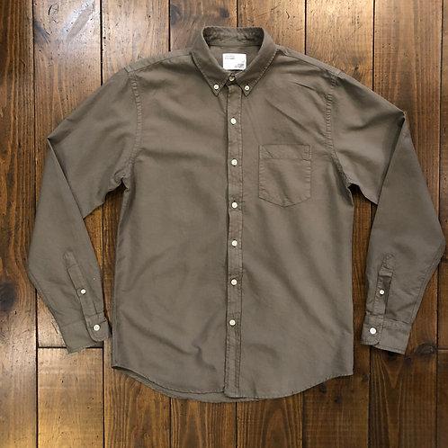 Organic  oxford olive shirt