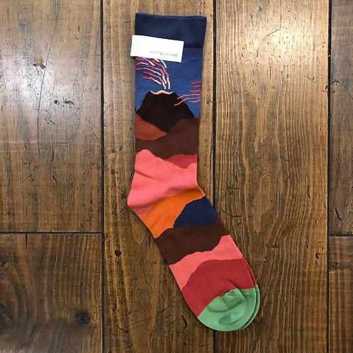 Slate Volcano Socks