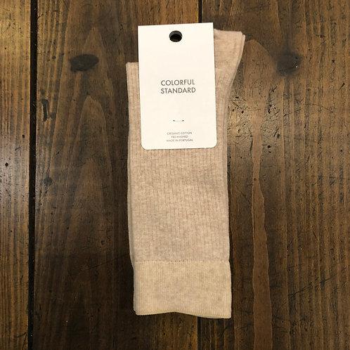 Organic cotton desert khaki socks