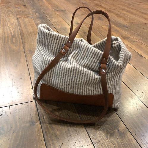 Steve Mono vertical Stripes Blanket Bag