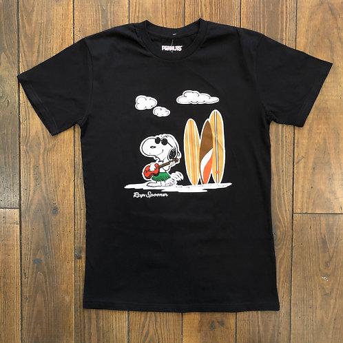 Ukulele Snoopy black tee