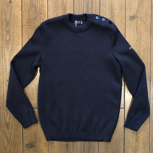 Cancale wool sweater Marine