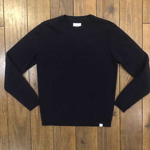 Sigfred Lambswool Navy Sweater