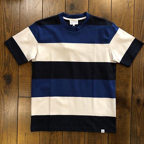 Johannes border blue stripe