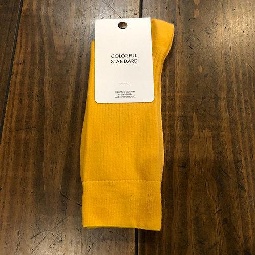 Organic cotton burned yellow   socks