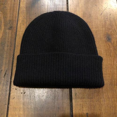 Merino Wool black Beanie