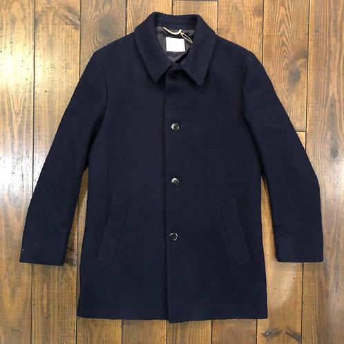 Heavey dark navy wool overcoat