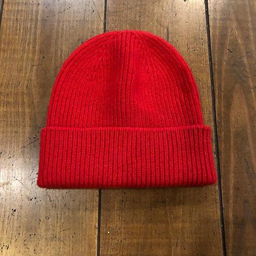 Merino Wool red Beanie