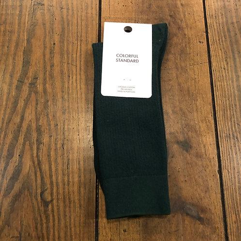 Organic cotton emerald green socks