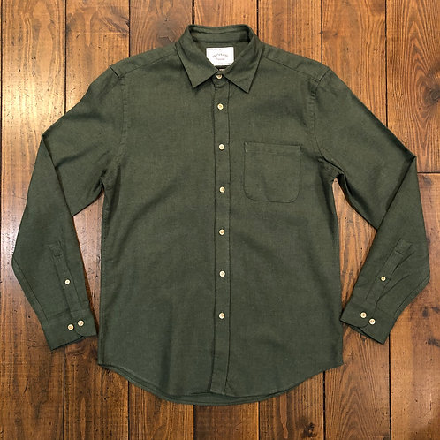 Teca Moss green Flannel Shirt