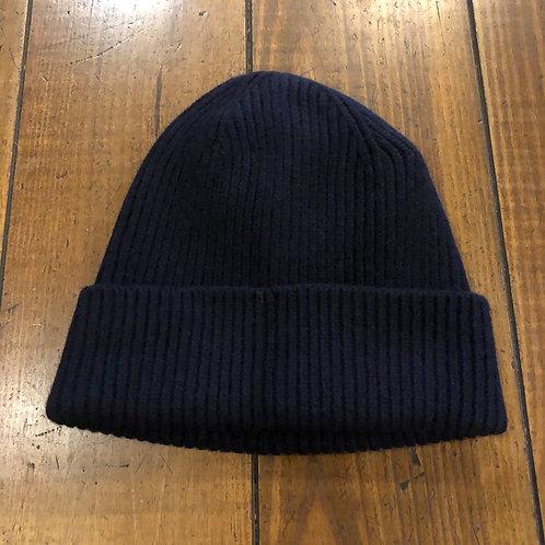 Merino Wool Navy  Beanie