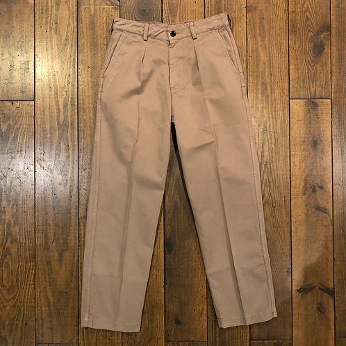Simple Pleat camel trousers