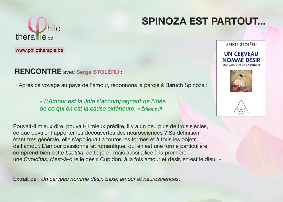 Spinoza est partout... - Première rencontre avec Serge Stoléru