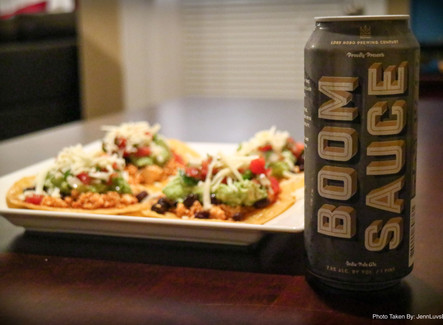 Tacos with a side of BOOMSAUCE