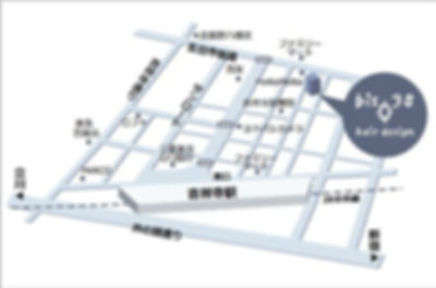 東京都武蔵野市吉祥寺本町1-27-3迦葉武蔵野第2マンション102吉祥寺美容室bi38の地図
