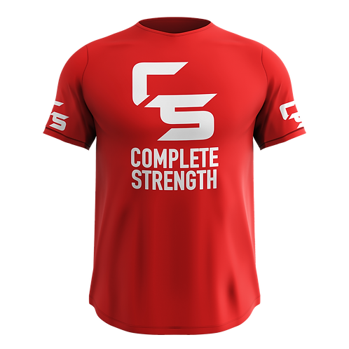 Complete Strength Red Logo T-Shirt