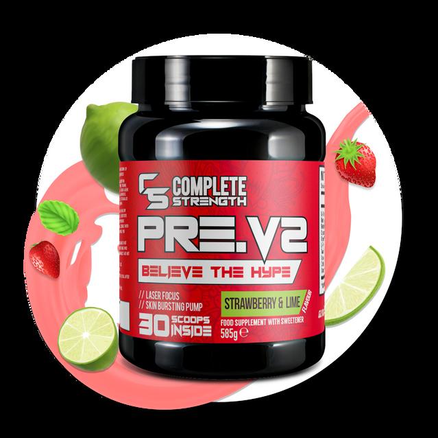 Strawberry & Lime - PreV2-Workout Powder