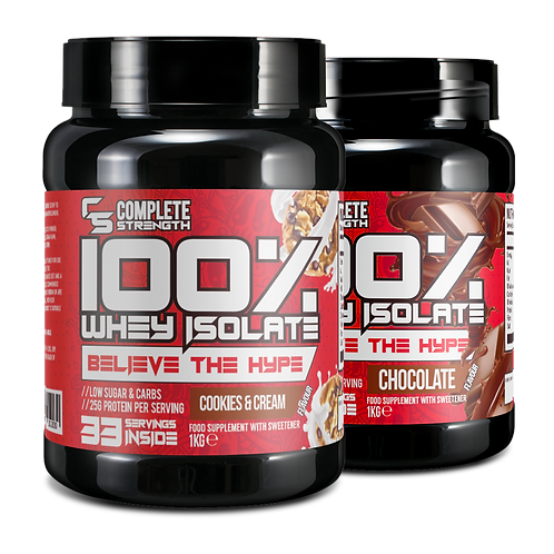 Whey Isolate - 1KG Twin Pack